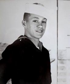 <center>Fireman James E. Yohe during his service with the U.S. Navy</center>
